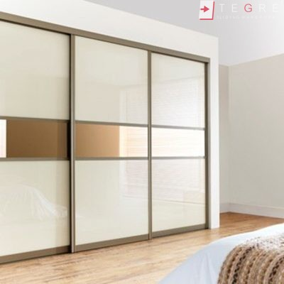 Cream Glass Sliding Wardrobes u0026 Doors 01 : wardrobes door - pezcame.com