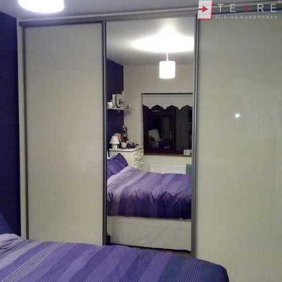 Cream Glass Sliding Wardrobes & Doors 02