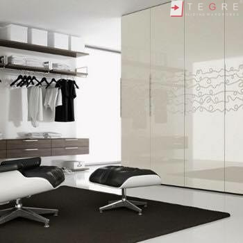 Cream Glass Sliding Wardrobes & Doors 04