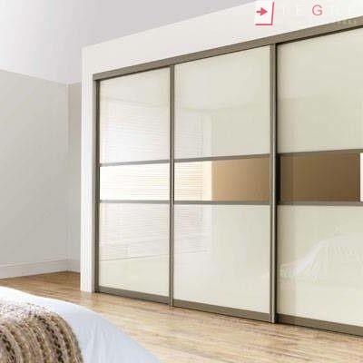 Cream Glass Sliding Wardrobes & Doors 07