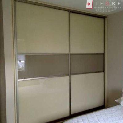 Cream Glass Sliding Wardrobes & Doors 10