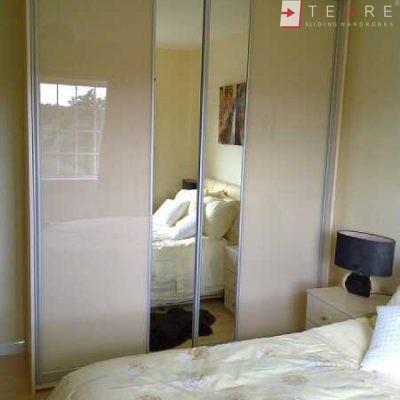 Cream Glass Sliding Wardrobes & Doors 11