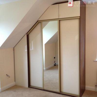 Cream Glass Sliding Wardrobes & Doors 12