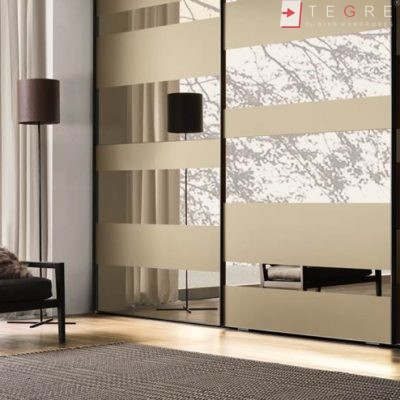 Cream Glass Sliding Wardrobes & Doors 14