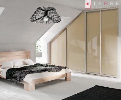 Cream Glass Sliding Wardrobes & Doors 17