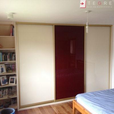 Cream Glass Sliding Wardrobes & Doors 20