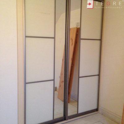 Cream Glass Sliding Wardrobes & Doors 23