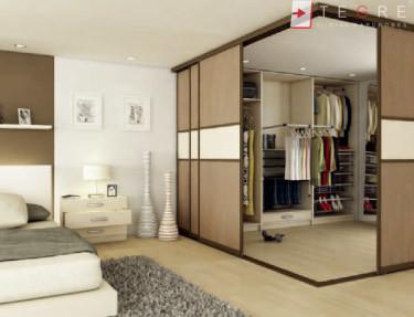 Cream Glass Sliding Wardrobes & Doors 24