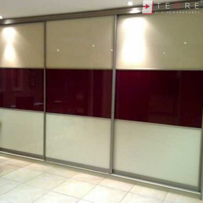 Cream Glass Sliding Wardrobes & Doors 25
