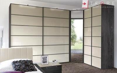 Cream Panel Wardrobe Door In Wood Gandle 03