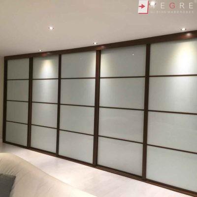 Cream Panel Wardrobe Door In Wood Gandle 05