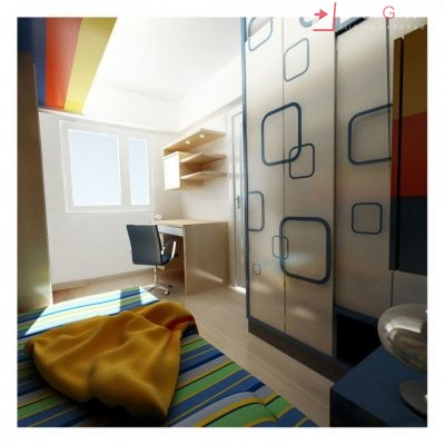 Kids Bedrooms – Sliding, Fitted Wardrobes 05