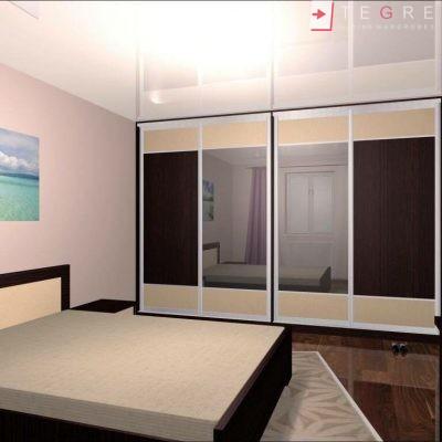Mirror & Panel Finish Sliding Wardrobe 17