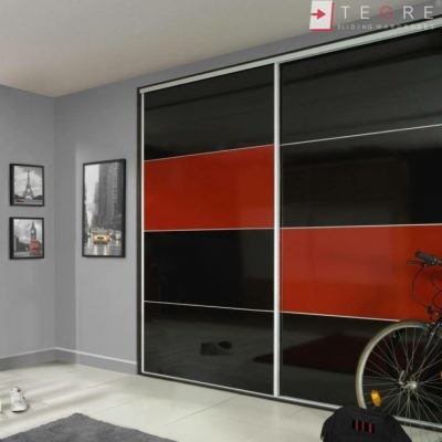 Sliding Black Glass Built In Wardrobes 04