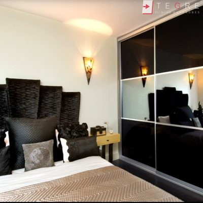 Sliding Black Glass Built In Wardrobes 10