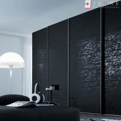 Sliding Black Glass Built In Wardrobes 11