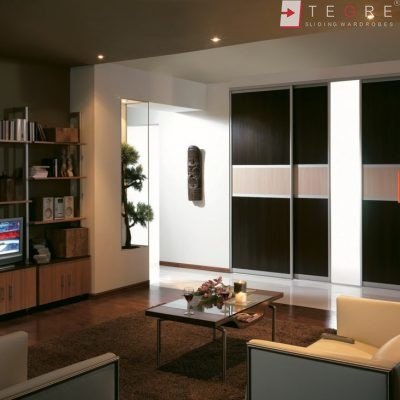 Sliding Black Glass Built In Wardrobes 12