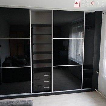 Sliding Black Glass Built In Wardrobes 13