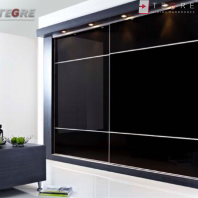 Sliding Black Glass Built In Wardrobes 20