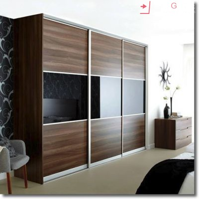 Sliding Black Glass Built In Wardrobes 24
