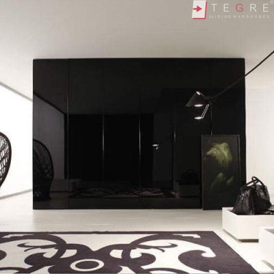 Sliding Black Glass Built In Wardrobes 25