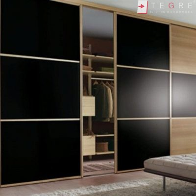 Sliding Black Glass Built In Wardrobes 27