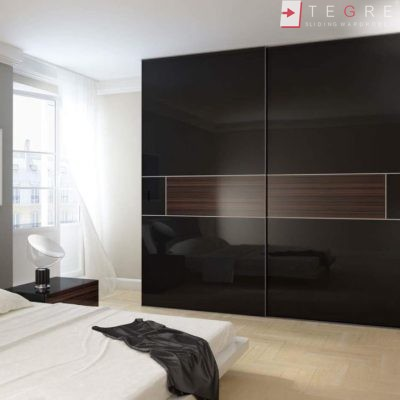Sliding Black Glass Built In Wardrobes 28