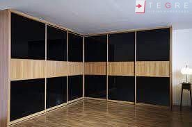 Sliding Black Glass Built In Wardrobes 31