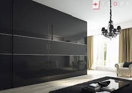 Sliding Black Glass Built In Wardrobes 35