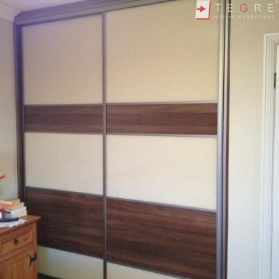 Sliding Cream & Chestnut Wardrobe Panel 03