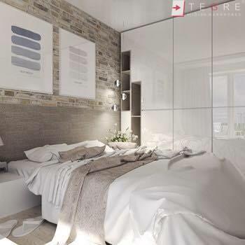 White Panel & White Glass Sliding & Built In Wardrobe 06
