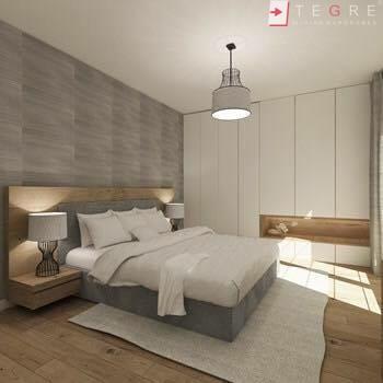 White Panel & White Glass Sliding & Built In Wardrobe 07