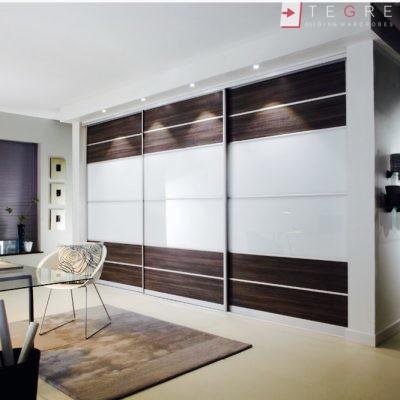 White Panel & White Glass Sliding & Built In Wardrobe 12
