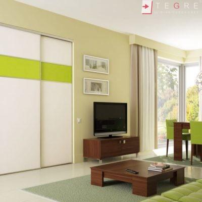 White Panel & White Glass Sliding & Built In Wardrobe 13