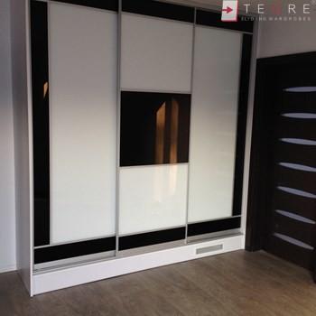 White Panel & White Glass Sliding & Built In Wardrobe 16