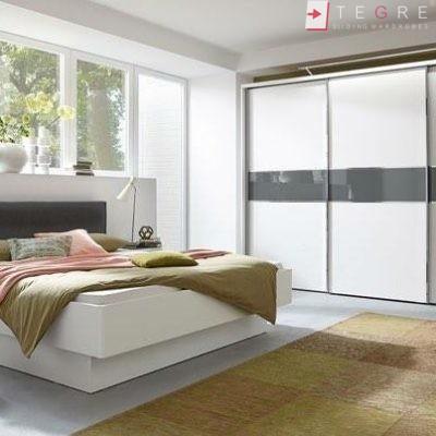 White Panel & White Glass Sliding & Built In Wardrobe 31