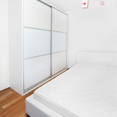 White Panel & White Glass Sliding & Built In Wardrobe 35