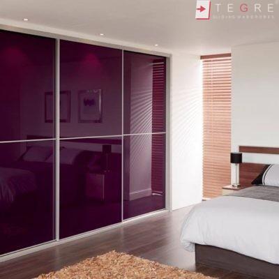 Sliding Wardrobes Color Glass Purple 09