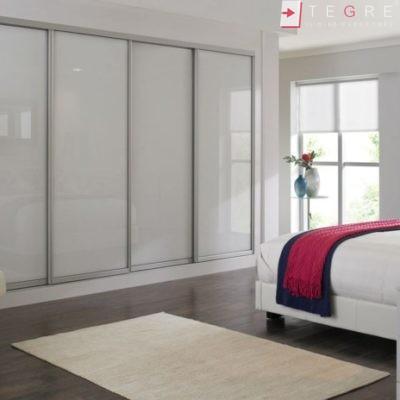 Sliding Wardrobes Color Glass White 02