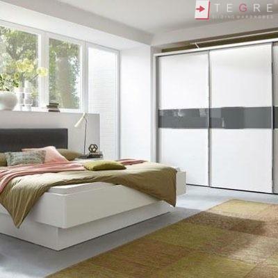 Sliding Wardrobes Color Glass White And Dark Grey 23