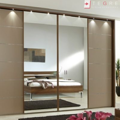 Sliding Wardrobes Mirror And Color Glass Cappucino 13