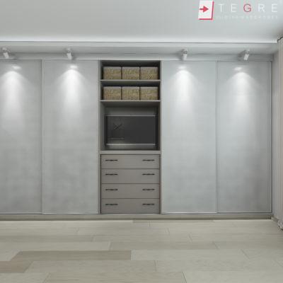 Sliding Wardrobes Soft White Panel 24