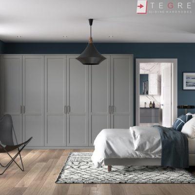 Traditional Wardrobes Bedroom 5piece Serica Dust Grey