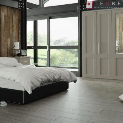 Traditional Wardrobes Warsaw Stone Grey Bedroom 1