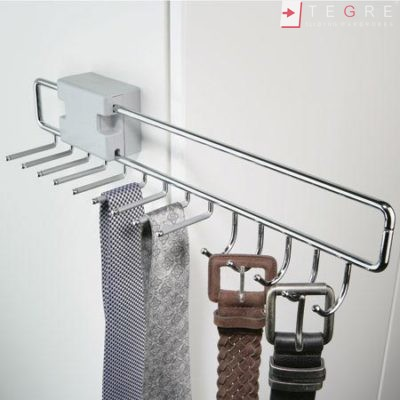 Wardrobe Accessories Pull Out Tie And Belt Rack For 9 Ties And 5 Belts Width 96 Mm 74 Mm Without Spacer