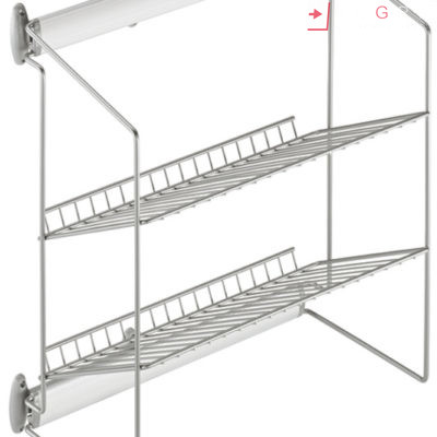 Wardrobe Accessories Side Mounted Silver Frame And Baskets